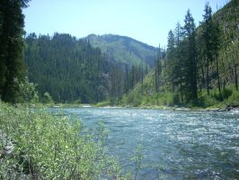 River through the Mountians by ScraftyLark