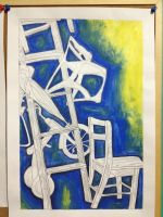 Ladder Monster Still Life by BookWizard