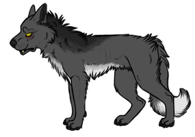 Wolf Adoptable - Sold by fringedfox