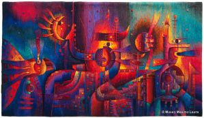 Hand-woven Tapestry: Inner Cosmos by Maximo Laura by Maximo-Laura