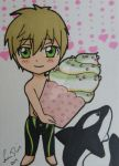 Makoto's Valentine ACEO by LadyNin-Chan