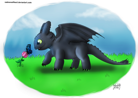 Toothless butterfly by SadowWolfKACT