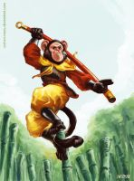 Monkey fighter by cat-on-mars