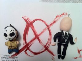 Masky and Slenderman Charms by DisforDelirium