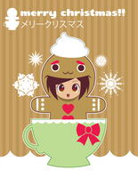 Gingerbread Girl Xmas Card by Itachi-Roxas
