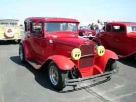 1931 Ford Victoria in Blood Red with Moon Eyes by RoadTripDog