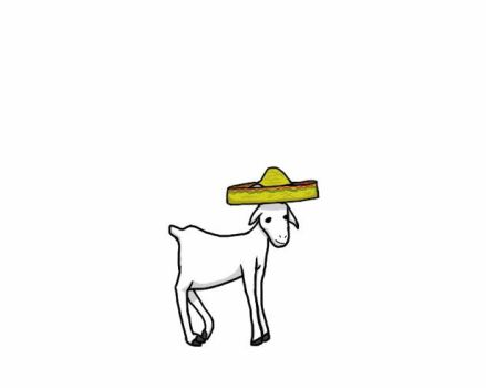 Goat with sombrero by Tommatito