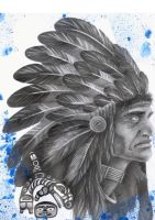 American Indian_tatoo_by_ze by zecarlos
