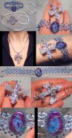 Baby Jewel Dragon Pendant and Bracelet Set 1 by wickedorin