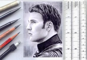 Captain America sketchcard by whu-wei