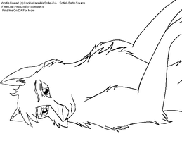 Wolf Lineart 3 by CookieCannibleSofiel