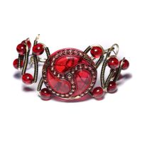 Bracelet Ruby Red by CatherinetteRings