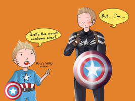 Steve Rogers: Halloween by ice-cream-skies