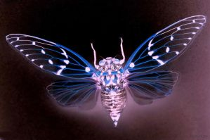Insecte en Transparence Bleu by hyneige