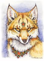 ACEO - More Fox Magic (Foxfire) by synnabar