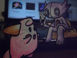 sableye and cleffa papermon 1 by dante224