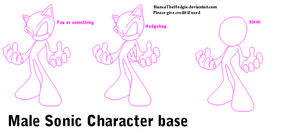 Male Sonic Character Base by BiancaTheHedgie