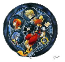 Kingdom Hearts Stained Glass 2 by KHArt08
