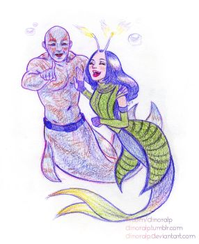 Mermay 8 day Friend Drax and Mantis by Dinoralp