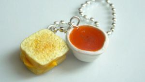 Polymer Clay Grilled Cheese Necklace by ThingSoSweet
