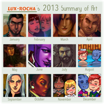 My 2013 Art Summay by lux-rocha