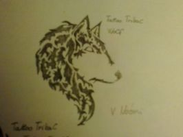 Tattoo Tribal : Wolf by chrissyh2015