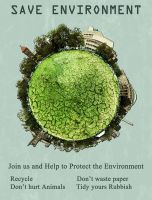 SAVE ENVIRONMENT POSTER by yashmeet135