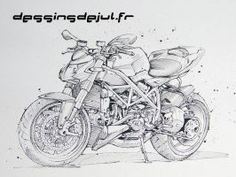 street fighter ducati  julien by dessinsdejul