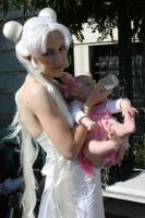 ::Queen Serenity and Baby:: by GarnetFlight