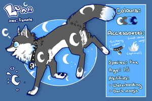 Luna Reference Sheet V.1 by The-F0X