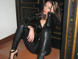 black leather by vernice61