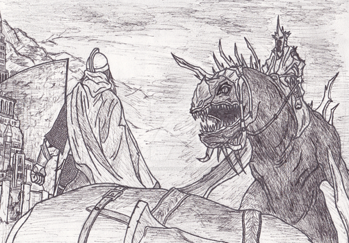 WIP Eowyn and the Witch King by Rockatansky105