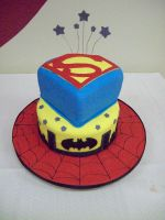 Superhero cake by see-through-silence