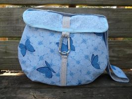 Blue Butterfly Messenger Bag by Eliea