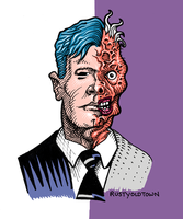 Harvey Dent -Two-Face by Rustyoldtown