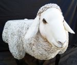 Hand Crafted Sheep Table - Papier Mache Sculpture by KarenCullie
