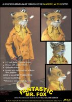 Fantastic Mr Fox - Puppet by wolfjedisamuel