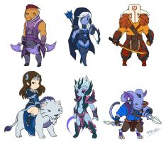 Dota 2 - Mini Radiant AGI heroes by spidercandy