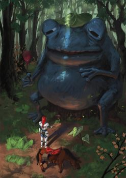 Knight with the blue frog by Guree