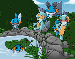 Mudkip Glade by DrakenFlameskull