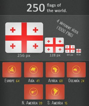 250 Flags by gio-the-arkantos