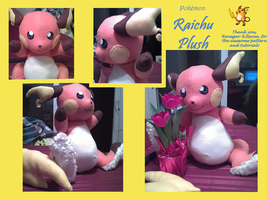 Raichu Plush by methuselah-alchemist