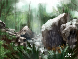 Forest Rain Speedpaint by YarTzana-Serenade
