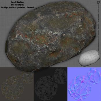 3D Small Boulder by machinemeditation