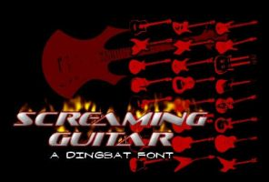 Screaming Guitar Font by spamboy