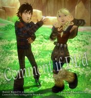 MMD Hiccup and Astrid DL by BryanRush