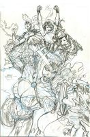X-Men 22 Cover Pencils by TerryDodson