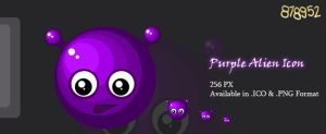Purple Alien Icon by 878952