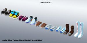 MMD shoes pack 2 update+DL by Green-Fighter