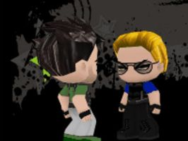 Wesker vs Chris (WWE Style) by LegendaryDragon90